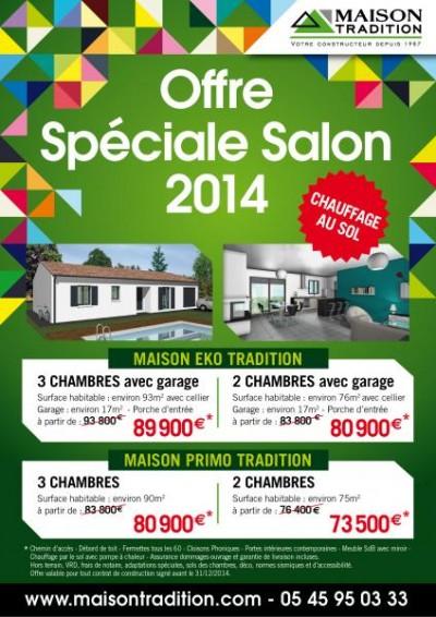 OFFRE SPECIALE SALONS 2014 – Les prix baissent la qualité reste…