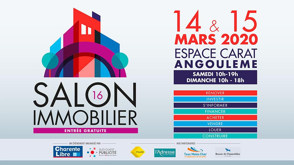 Salon de l'immobilier Espace Carat Angoulême le 14 et 15 mai