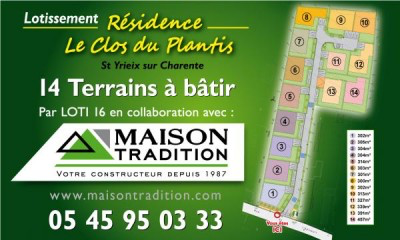 Nombreux Terrains disponibles Charente et Charente Maritime