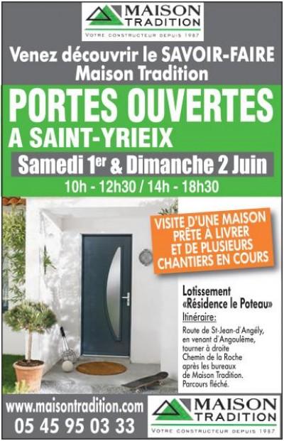 PORTES OUVERTES ce Week-end à Saint-Yrieix
